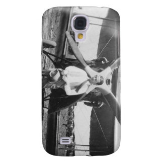 1920's Man with Airplane Galaxy S4 Cases