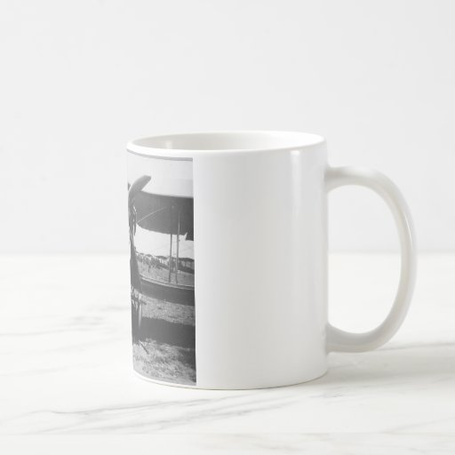 1920's Man with Airplane Coffee Mug