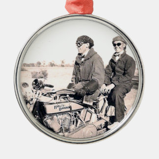 1920's Men Riding Motorcycle Ornament