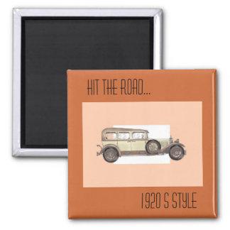 1920s Mercedes Limousine 2 Inch Square Magnet