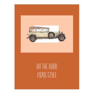 1920s Mercedes Limousine Post Card