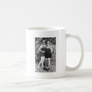 1920's Mother and Daughter in Swimsuits Coffee Mug
