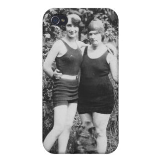 1920's Mother and Daughter in Swimsuits iPhone 4 Cases