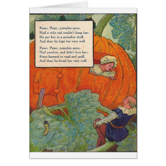 1920s Mother Goose - Peter Pumpkin Eater Card