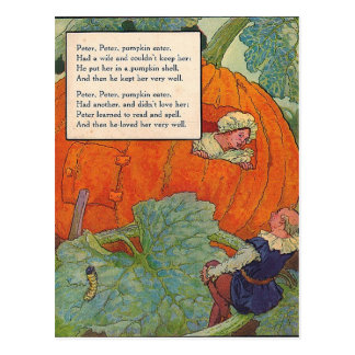 1920s Mother Goose - Peter Pumpkin Eater Postcard