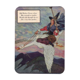 1920s Mother Goose riding her giant goose Magnet