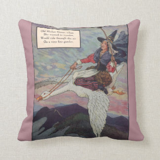1920s Mother Goose riding her giant goose Pillow