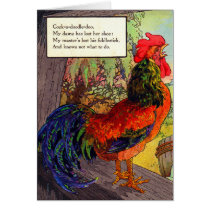 1920s Mother Goose - rooster Card