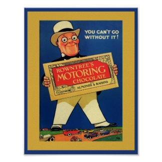 1920's Motoring Chocolate - Rowntree's Poster
