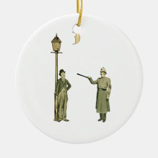 1920's Movie Star and Police Man Ceramic Ornament