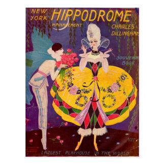 1920s New York Hippodrome program cover Postcard