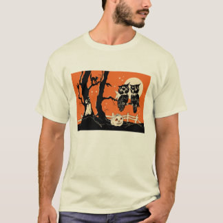 1920s Owls in Tree Bridge Tally T-Shirt
