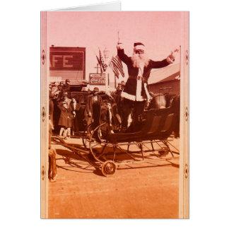 1920s Parade Santa Card