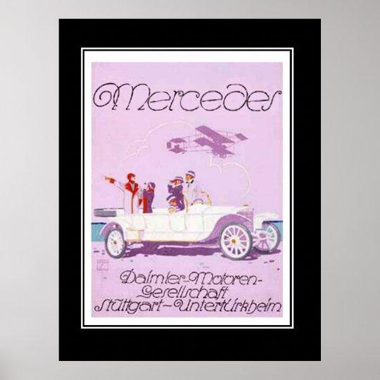 1920's Passanger Car Vintage Poster