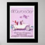 1920's Passanger Car Vintage Poster Print