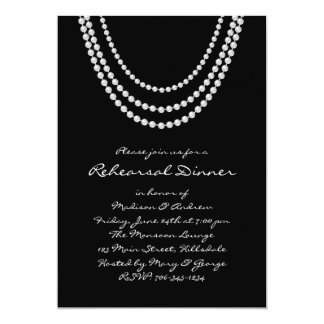 1920's Pearl Rehearsal Dinner Invitation