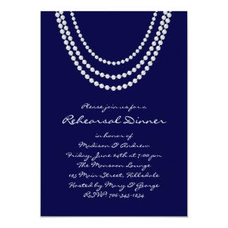 1920's Pearl Rehearsal Dinner Invite - blue