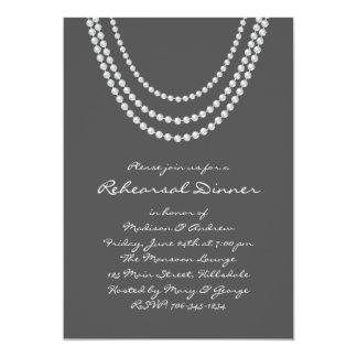 1920's Pearl Rehearsal Dinner Invite - gray