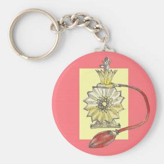 1920s Perfume Bottle Basic Round Button Keychain