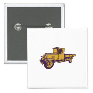 1920s Pick-up Truck Woodcut Button