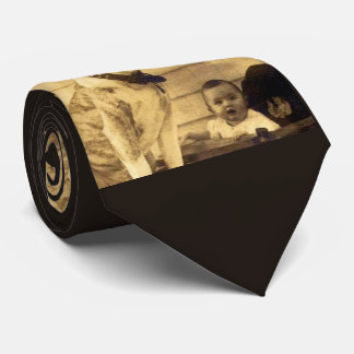 1920s pitbull guards baby neck tie