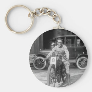 1920s Racing Motorcycle Keychain