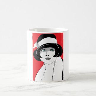 1920s Red Coffee Mug