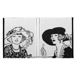 1920's  Retro Vintage 2 Ladies Apparel Hats iPad Folio Cases