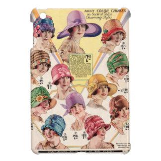 1920's Roaring Twenties Flapper Hat ad in color iPad Mini Cases
