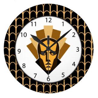 1920s Roaring Twenties Style Statue Crest Large Clock