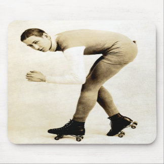 1920s Roller Skater Mouse Pad