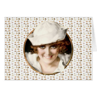 1920s Sailor Girl Bon Voyage Card