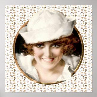 1920s Sailor Girl Poster