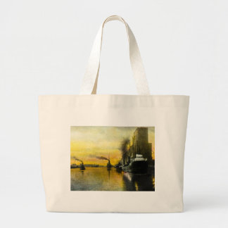 1920s Ships at Fort William, Ontario, Canada Large Tote Bag