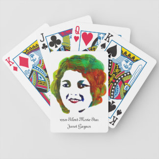 1920s Silent Movie Star Janet Gaynor Bicycle Playing Cards