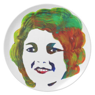 1920s Silent Movie Star Janet Gaynor Party Plates