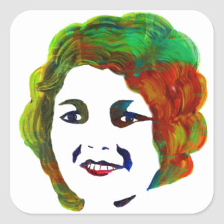 1920s Silent Movie Star Janet Gaynor Square Sticker