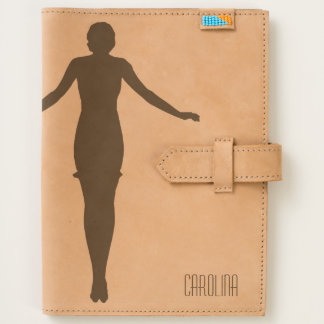 1920s Silhouette Balancing Woman Leather Journal