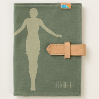 1920s Silhouette of Balancing Woman Canvas Journal
