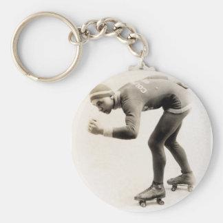 1920s Speed Skater no.2 Keychain