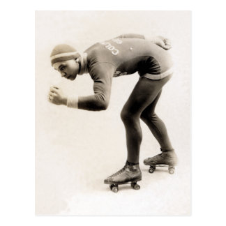 1920s Speed Skater no.2 Postcard