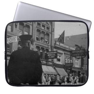 1920s Street Scene Laptop Sleeve