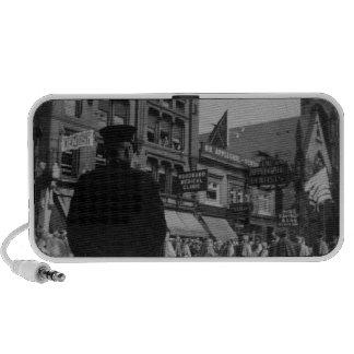 1920s Street Scene Laptop Speakers