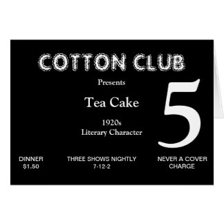 1920s Table Number Card