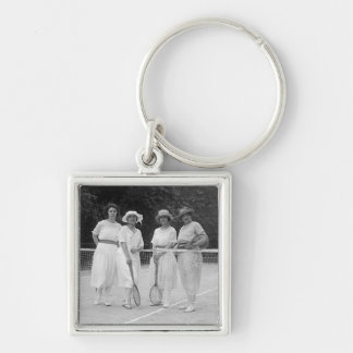 1920s Tennis Fashion Keychain