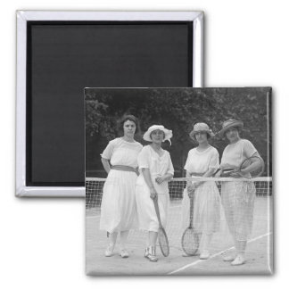 1920s Tennis Fashion 2 Inch Square Magnet