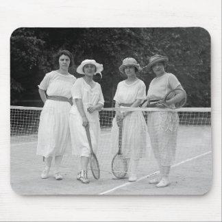 1920s Tennis Fashion Mouse Pad