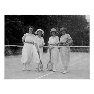 1920s Tennis Fashion Poster