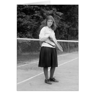 1920s Tennis Style Card