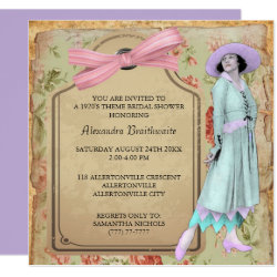 1920's Theme Bridal Shower Invitation